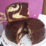 Torta marmoleada venezolana