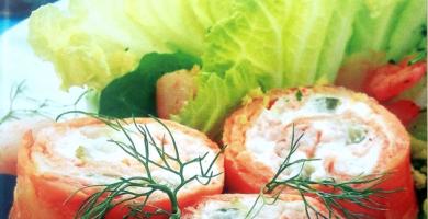 rollitos de salmon ahumado