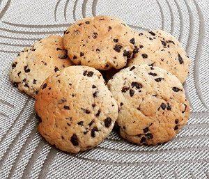 galletas de naranja con chispas de chocolate
